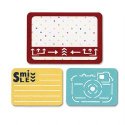 659755 Sizzix Thinlits Die Set 3PK - Smile for the Camera